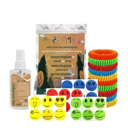 10 Mosquito repellent bracelets, 1 60ml Mosquito spray and 2