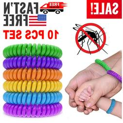 10 pack natural mosquito repellent bracelet wrist