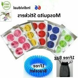 102 pcs Insect Mosquito Repellent Stickers Patches Natural D