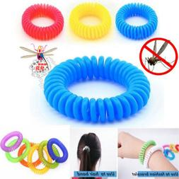 10PCS Anti Mosquito Insect Repellent Wrist Hair Band Bracele