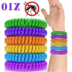 10x Anti Mosquito Insect Repellent Wrist Hair Band Bracelet