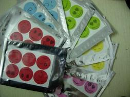 120pcs SMILEY INSECT MOSQUITO NATURAL REPELLENT STICKERS PAT