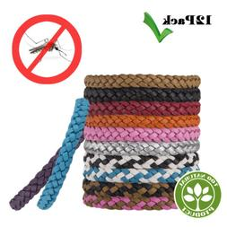 12Pcs Anti Mosquito Insect Repellent Wrist Hair Band Bracele