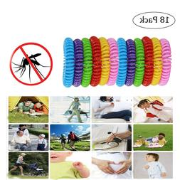 18Pcs Mosquito Insect Repellent Bracelets Band Kids Outdoor