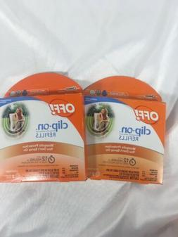 2 Pack - OFF! clip On Mosquito Repellent Refills 2 each