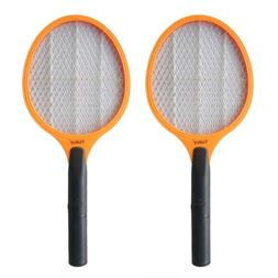 2 PCs Mosquito Bug Fly Zapper Racket Swatter Trap Gnat Sting