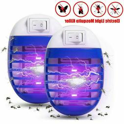2Pcs UV Mosquito Repellent Killer Lamp Outdoor Indoor Fly Bu