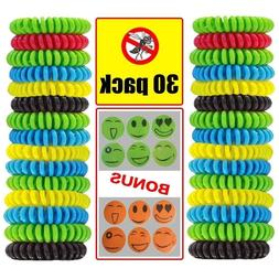 30 pack mosquito repellent bracelet natural waterproof