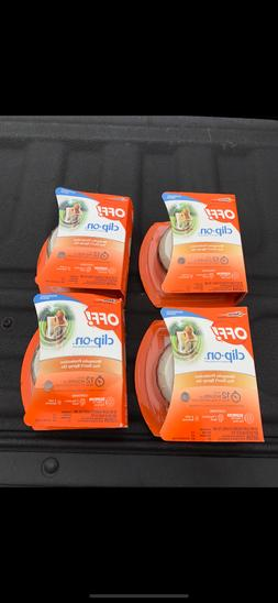 4 PACK  Off! Clip-on Mosquito Repellent Fan Starter Circulat