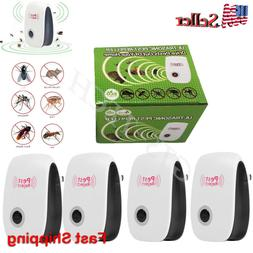 4 Pcs Electronic Ultrasonic Pest Reject Repeller Mosquito Co