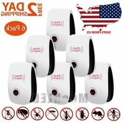 6 Pack UltraSonic Mosquito Pest Repellent Mice Rat Control r