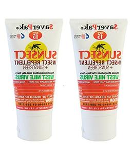 $averPak 2 Pack - DEET Based SunSect Insect Repellent and Su