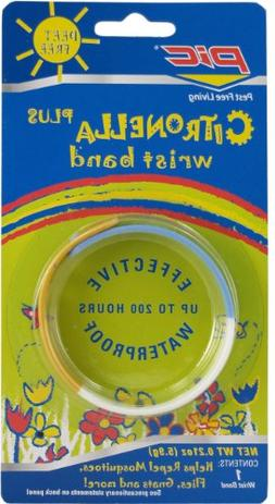 PIC BAND Citronella Wristband to Keep Away from Bugs, 10-Per