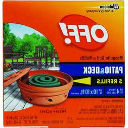 S C Johnson OFF Country Fresh Scent Mosquito Coil Refill, 6