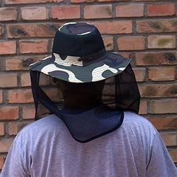 Agfabric Camouflage Anti-Mosquito Head Net Hat for Outdoor U