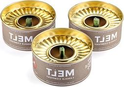 Melt Candle Company Set of 3 Outdoor Citronella Candles with