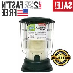 Citronella Candle Outdoor Lantern Camping 70+ Hours Mosquito