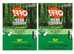 Off! Deep Woods Insect Repellent Wipes, 12 Towelettes