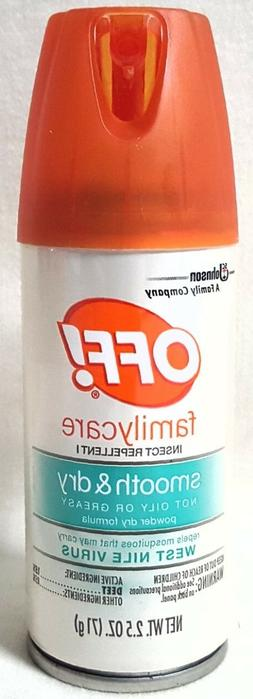 Off! Familycare Smooth & Dry Insect Repellent 2.5 oz