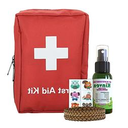First Aid Kit and Mosquito Repellant Family Bundle - with 72