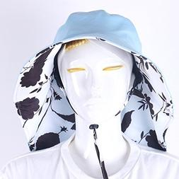 Agfabric Folding Anti-Mosquito Head Net Hat for Outdoor Use,