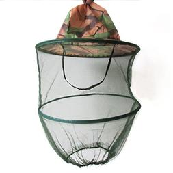 Agfabric Folding Camouflage Tree Anti-Mosquito Head Net Hat