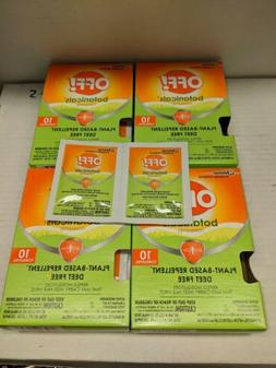 Four  Boxes OFF Botanicals 40 Towelettes Natural Insect Mosq