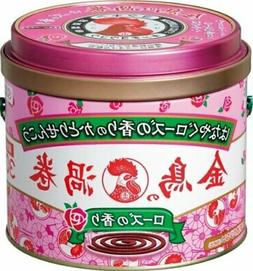 From Japan Mosquito Repellent Coil Incense Canned Rose 30coils
