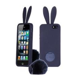 HJX Black Bunny Rabbit TPU Silicone Rubber Cover Case Skin S