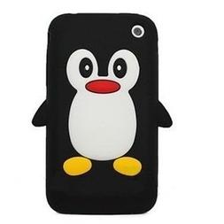 HJX Black iphone 3G 3D Penguin Silicone Soft Skin Case Cover