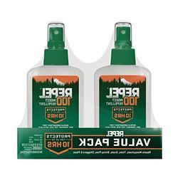 Repel 100 Insect Repellent Pump Spray Bottle 4 oz - 2 PACK