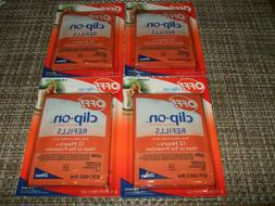 Johnson Off! Clip-On Mosquito Repellent Refills 4 NEW Packs