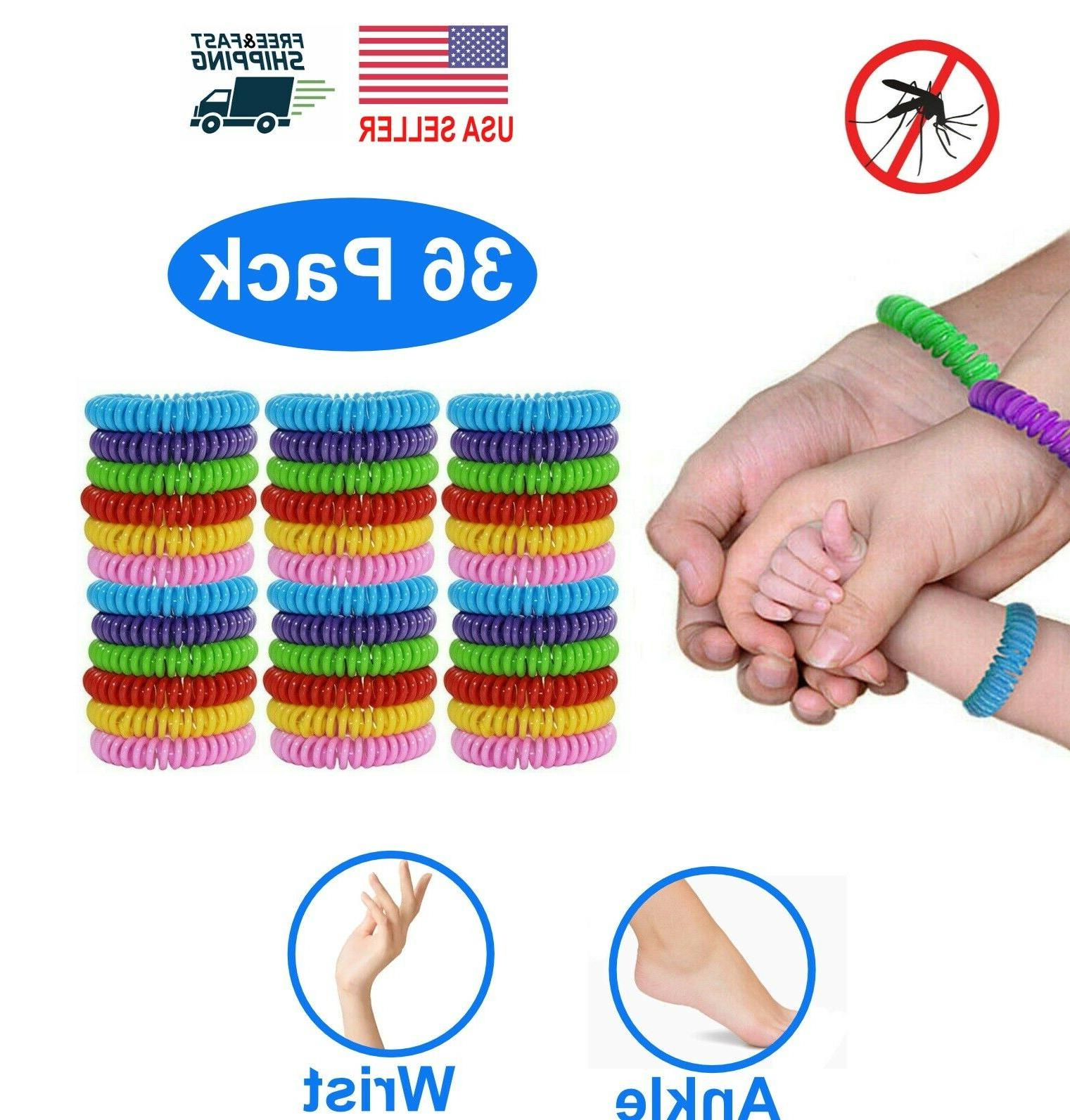 36 pack natural mosquito repellent bracelet wrist