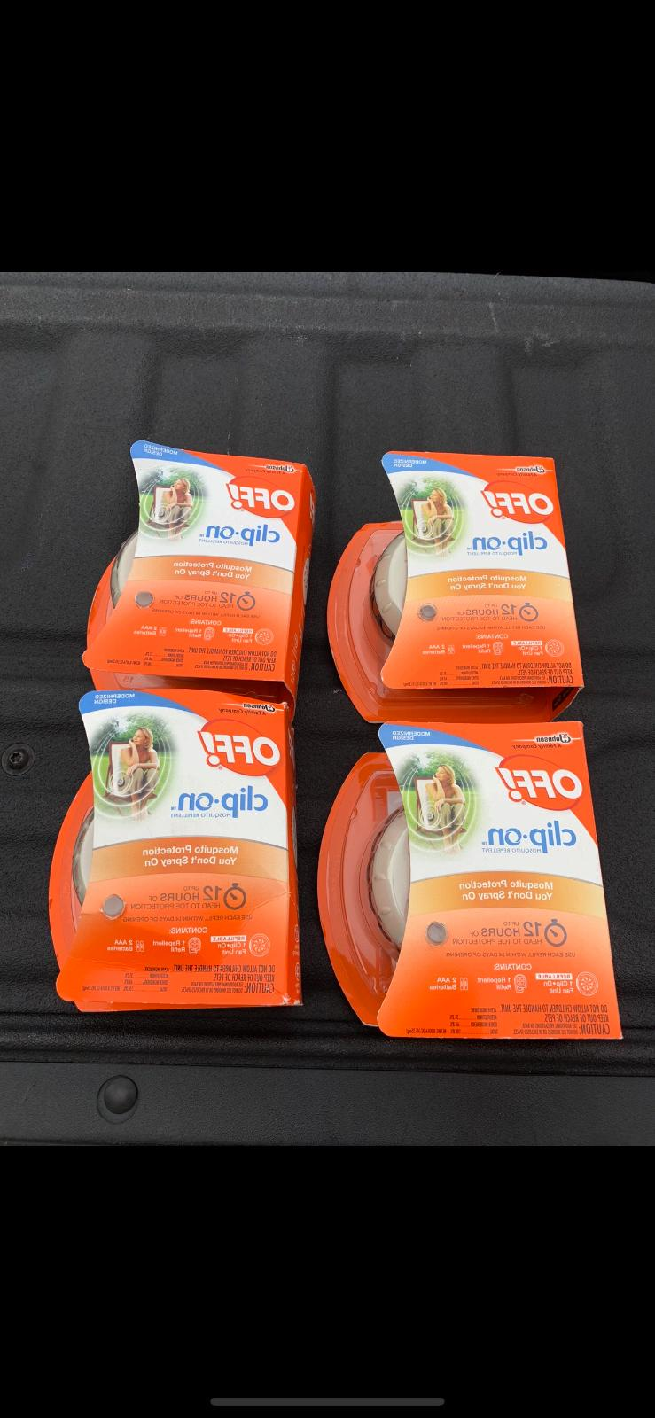 4 pack off clip on mosquito repellent