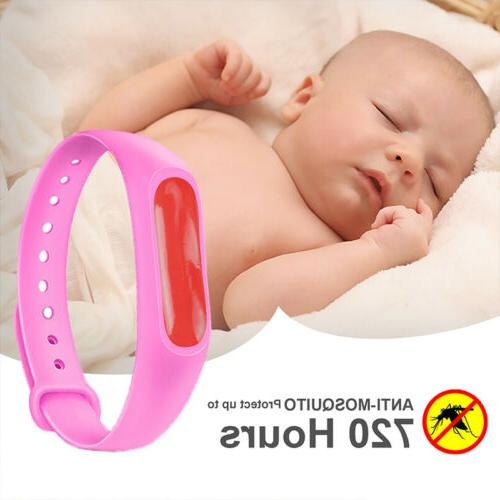 6 Pack Repellent Bracelet, Free, Refillable and