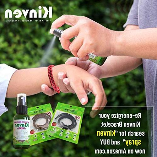 Kinven Anti Mosquito Bundle Bracelet & Natural, DEET-free, Outdoor Protection & Kids