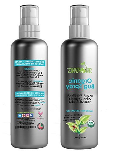 Sky Organics with Essential Oils, DEET-Free, Safe Insect Repellent Adults, & Cruelty-Free