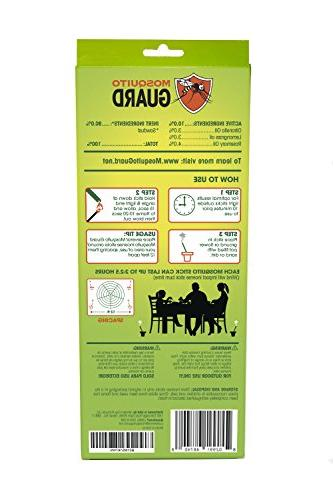 Mosquito Guard Incense Sticks Inch Incense Sticks Made Natural Based Ingredients: Citronella, Rosemary Oil Per Box