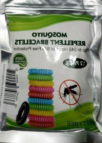 natural mosquito repellent bracelet 12pack wrist band