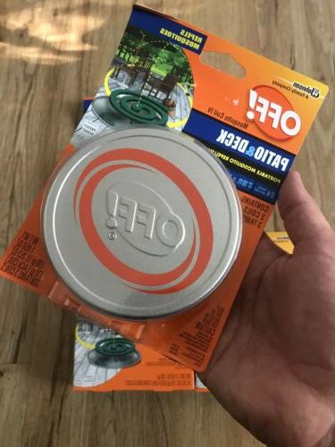 OFF! MOSQUITO REPELLENT WITH COIL REFILLS NOS