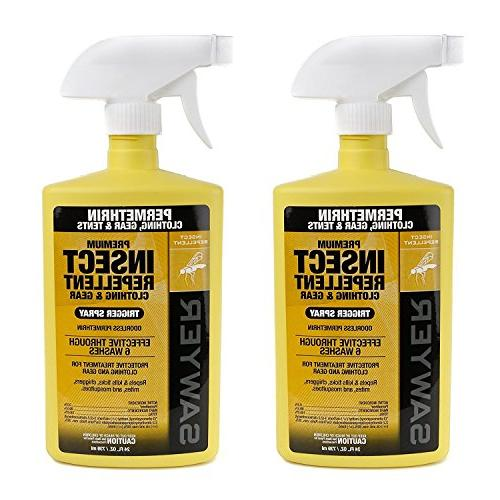 Sawyer Products SP6572 Twin Pack Premium Permethrin Insect Repellent 24