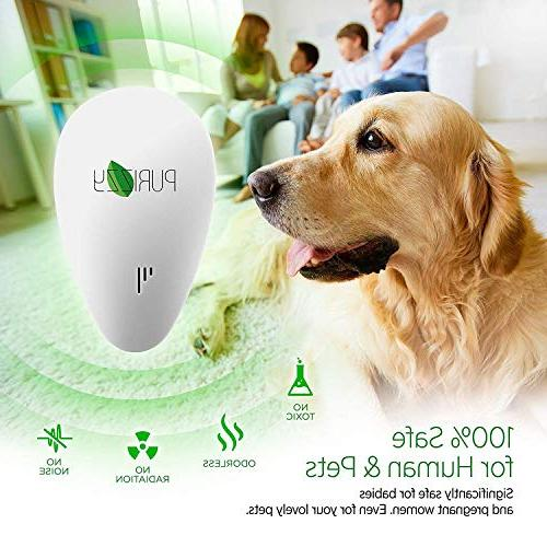 Ultrasonic Pest Mosquito Repeller 2019 Indoor - in Electronic Repel Mice - Spider- 6 packs