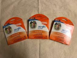 Lot Of 3 Johnson Off! Clip-On Mosquito Repellent Refills 3 B
