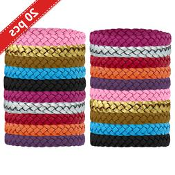 Kinven Mosquito Bug Repellent Faux Leather Bracelet Bands -