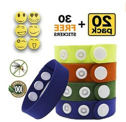 Mosquito Repellent Bracelet Insect & Bug Repellent Bands,100