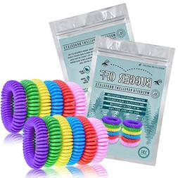 Bugger Off 12 Pack Mosquito Repellent Bracelet No Spray Last