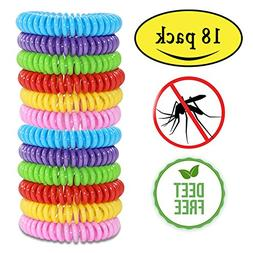 Mosquito Repellent Bracelets,Natural for Kids & Adults(18