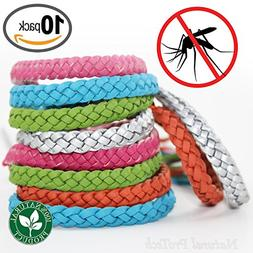 Mosquito Repellent Leather Braided Bracelet - 100% Natural I