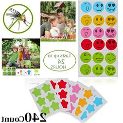 Mosquito Repellent Stickers/240-Count/Safe for Kids Babies&A