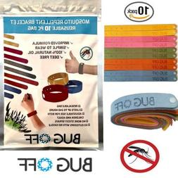 BUG OFF Mosquito Repellent Wrist Band Family 10-Pack - *Natu